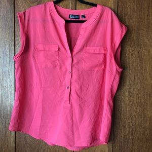 New York & Co 7th Avenue Pink Sleeveless Blouse